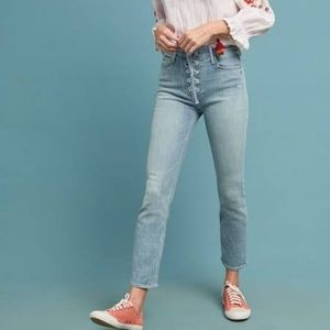 Mother The Lace Up Dazzler Ankle Blue Jeans